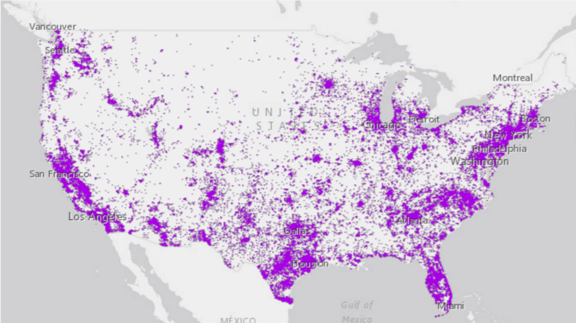 US Census Bureau map showing distribution of Spanish speakers in the US
