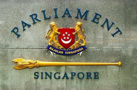 Singapore Parliament Sign
